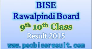 Rawalpindi Board Matric Result 2015