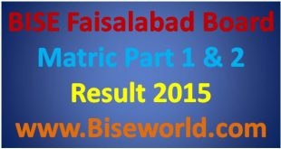 Faisalabad Board 9th 10th Class Result 2015