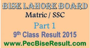 When Announced Lahore 9 class result 2015