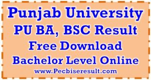 Pu Lahore Ba BSC Result 2018
