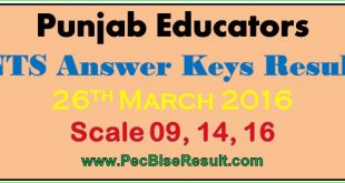 Free Download Educators NTS Answer Keys 26/03/2016