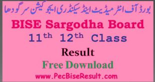 12th class result 2016 sargodha