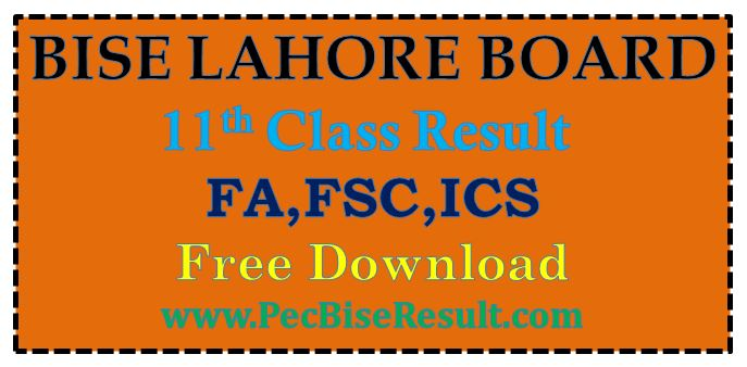 Inter Part 1 Result 2016 Lahore