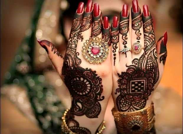 Pakistan Bridal Hand Henna Designs 2017