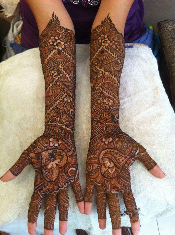 Love Couple Hands Henna Designs 2017