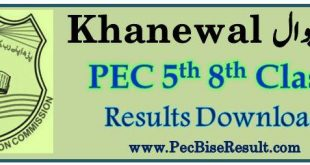 Five Eight Class Result 2018 Khanewal