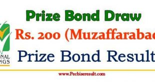 200 Prize Bond List September 2017
