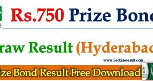 Rs. 750 Prize Bond List 16 October 2017