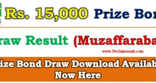 Prize Bond List 15000 January 02, 2018 Draw No. 73 Result Held in Muzaffarabd