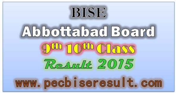 BISE Abbottabad Board Matric Result 2015