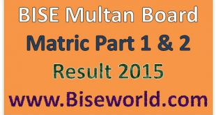 Multan Board 9th 10th Class Result 2015