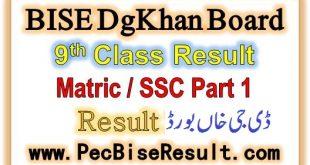 Dera Ghazi Khan Board 9th Class Result 2020