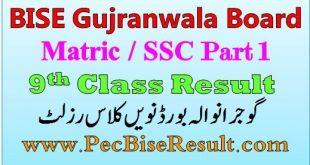 Gujranwala Board Nine Class Result 2020 SSC Part 1