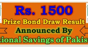 Prize Bond Draw Result 1500 May 17 2021
