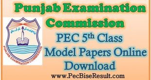 Online 5th Class Model Papers 2021