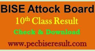District Attock 10th Class Result 2020