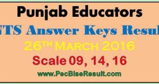 Free Download Educators NTS Answer Keys 26/03/2016