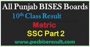 BISE Board Matric Result 2020