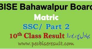 Check Bahawalpur Board 10th Class Result 2020