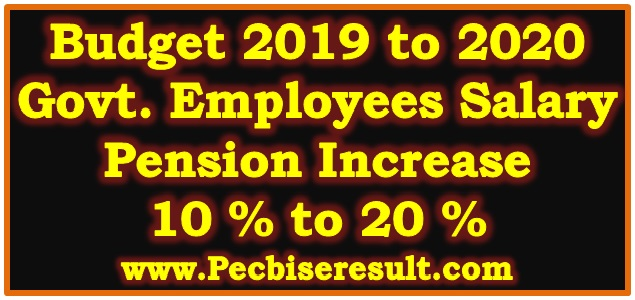 Govt Employees Salary Increase in Budget 2019-2020