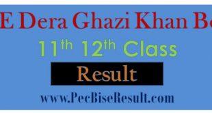 Inter Part2 Result 2020 DG Khan