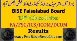 Faisalabad Inter Part2 Result 2021