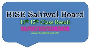 Sahiwal ICS ICOM Result 2016