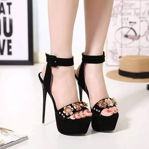 Pencil Heel Black Shoes 2017