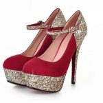 Fancy Bridal High Heel Shoes 2017
