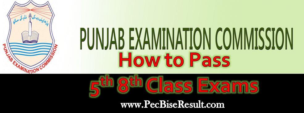 PEC Grade 5th 8th Class Exams How to pass