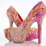 Bridal Pink High Heel Pencil SHoes