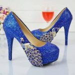 Blue Casual High Heel SHoes