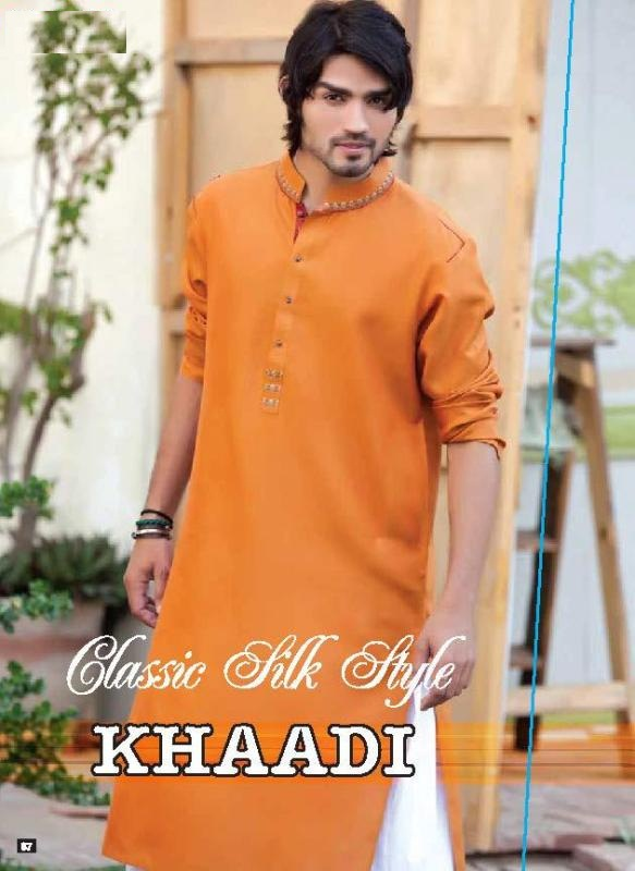 Boy Kurta Design 2017 Orange Color