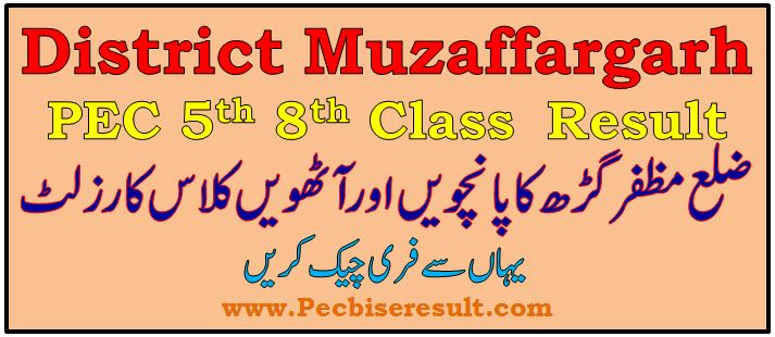 District Muzaffargarh 5th 8th Class Result 2021