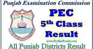 Online Download 5th Class Result 2019