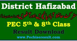 District Hafizabad 5th 8th Class Result 2021