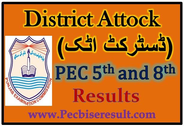 Attock 5th 8th Class Result 2017