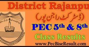 PEC 5th and 8th Class Result 2019 Rajanpur