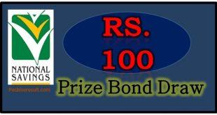 100 Prize Bond List 15 August 2017