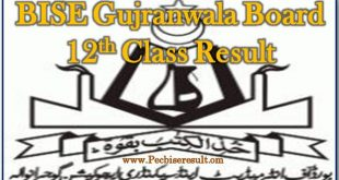 12th Class Result 2017 BISE Gujranwala Board