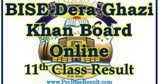 BISE Dera Ghazi Khan Board 11th Class Result 2020