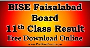 BISE Faisalabad Board 11th Class Result 2020