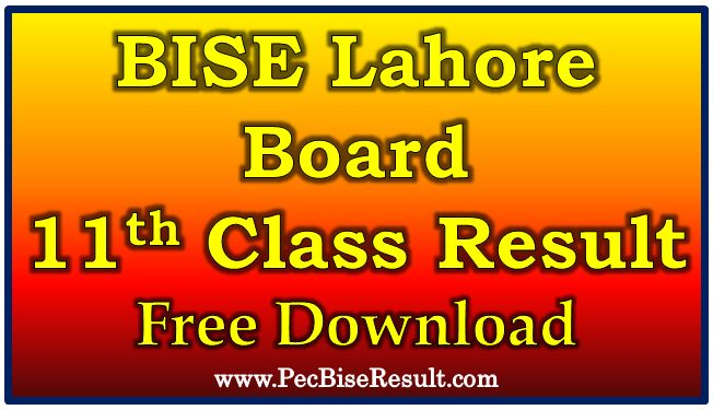 BISE Lahore Board 11th Class Annual Result 2017