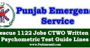 Computer Telephone Wireless Operator Rescue 1122 Jobs Psychology/Written Test Guide Lines