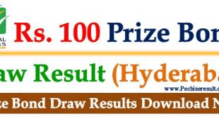 100 Prize Bond List 15 November 2017 Hyderabad