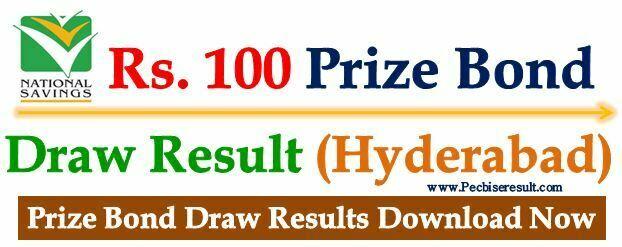 100 Prize Bond List 15 November 2017 Hyderabad
