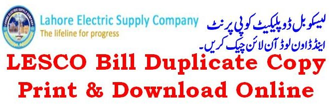Lahore Electricity Duplicated Lesco Bill Download Amp Print