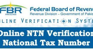 National Tax Number – NTN Verification Online