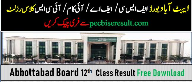 BISE Abbottabad 12th Class Result 2020