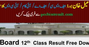 BISE Dera Ismail Khan Board FSc / FA Result 2021 Online